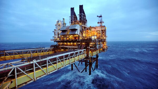 FILE PHOTO: File photo of a section of the BP Eastern Trough Area Project oil platform in the North Sea