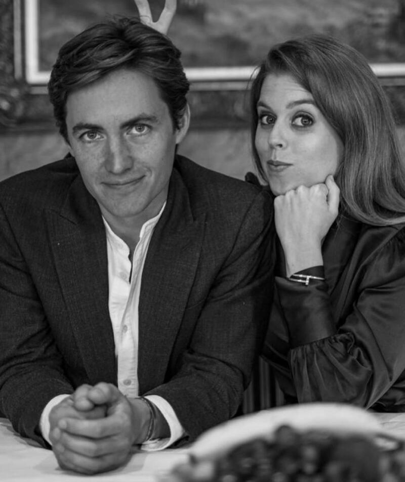 Princesa Beatriz y su prometido Edoardo Mapello