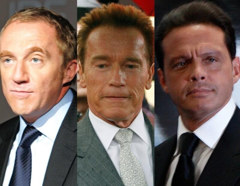 Françoise-Henri Pinault, Arnold Schwarzenegger y Luis Miguel reconocieron su paternidad años después.