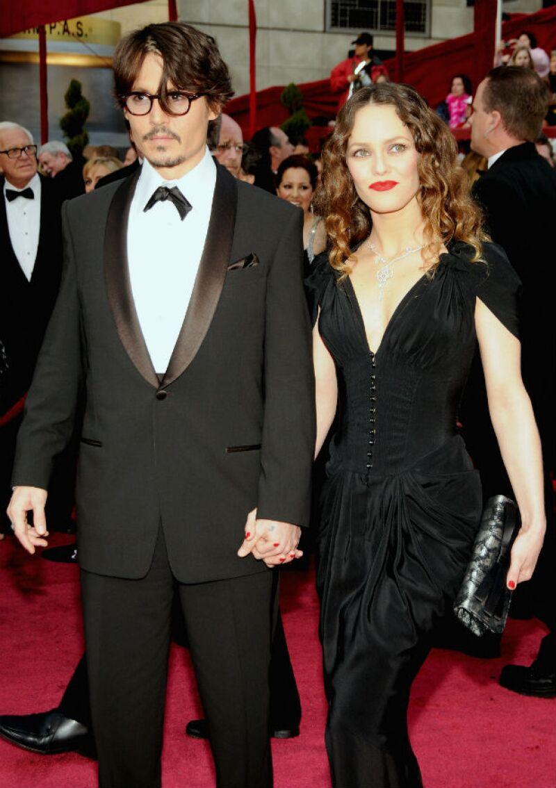 Vanessa Paradis con Johnny en los Oscar de 2008, donde la relación ya se tambaleaba.