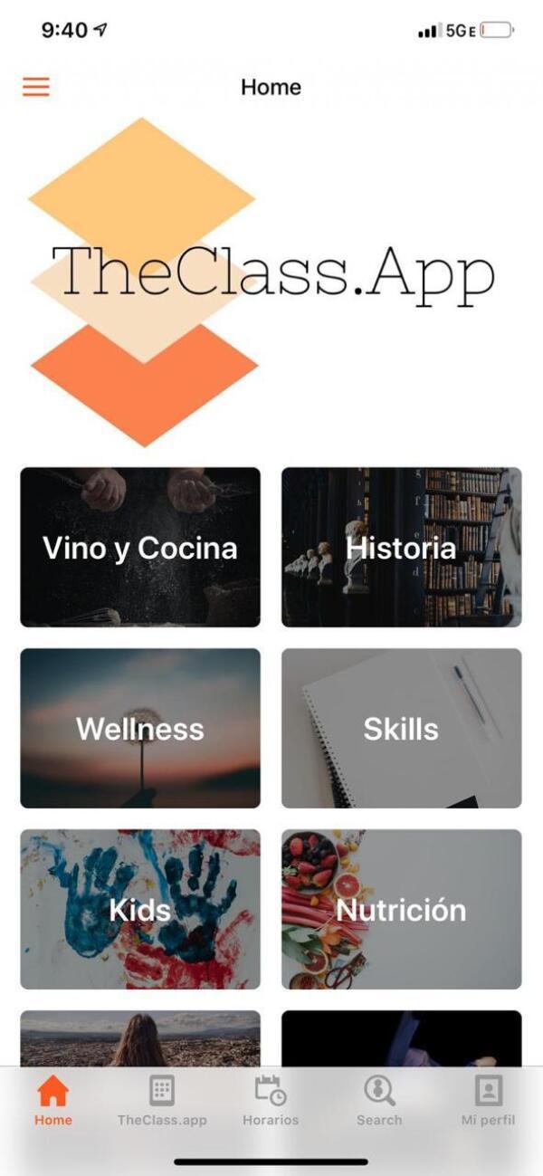 The class app