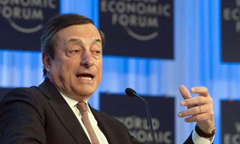 Draghi señaló que aún hay mucho qué hacer desde la política monetaria del Banco Central Europeo. (Foto: AP)