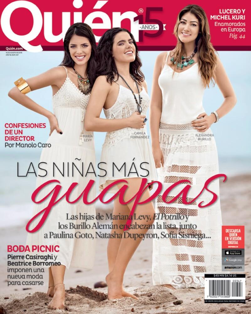 La edición de Las Niñas Más Guapas con María Levy, Camila Fernández y Alexandra Burillo en portada.