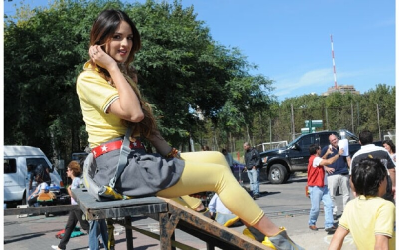 Eiza tiene 20 años y está despuntando en su carrera con la serie `Sueña Conmigo´ del canal Nickelodeon.