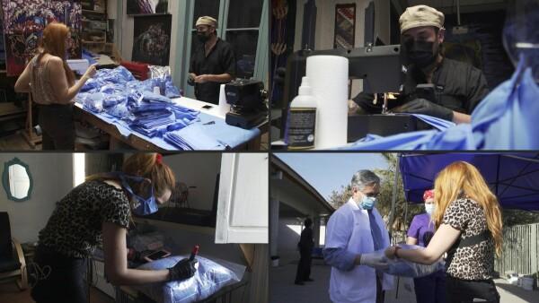 Cadena de favores, costureras chilenas cosen cubrebocas para personal de salud
