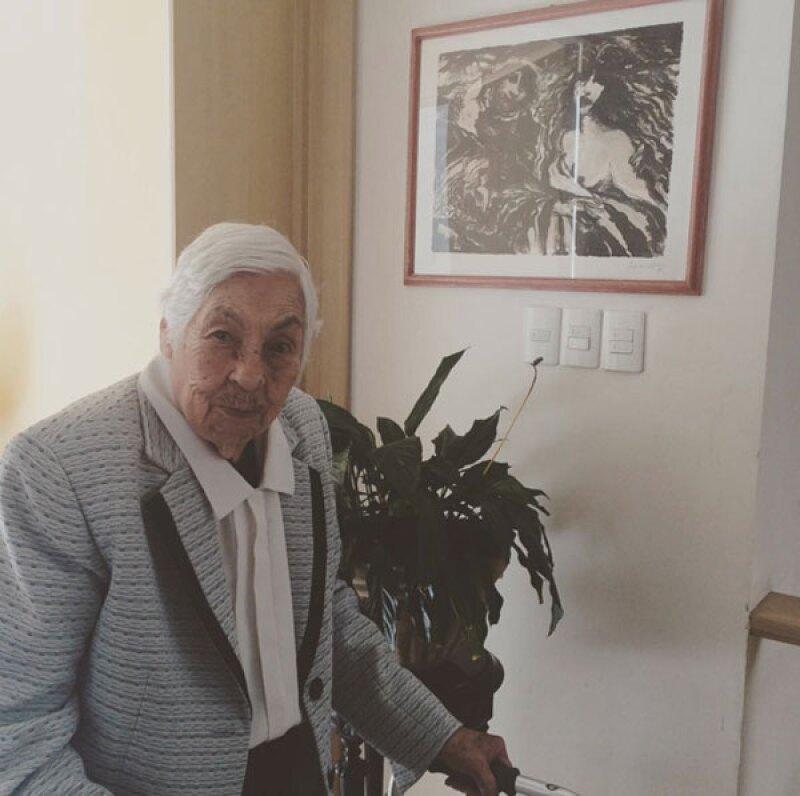 Eva Mange, abuela de Thalía, tiene 95 años.