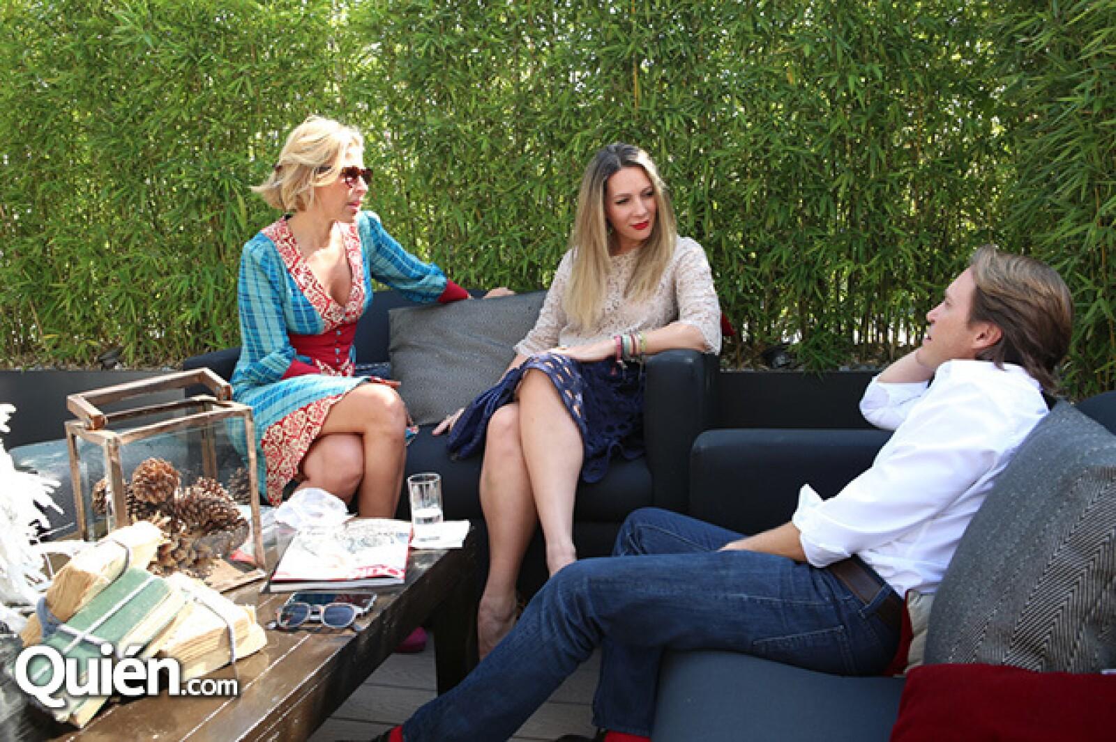 Beatriz Pasquel,Zarina Rivera y Olivier Joanin
