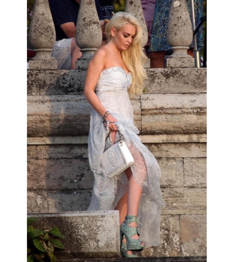 Lindsay Lohan se lució en escenarios italianos.