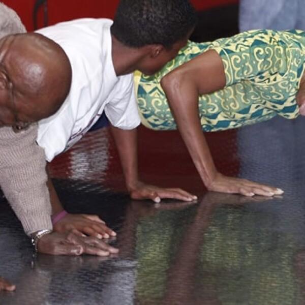Michelle Obama - Desmon Tutu - Sudáfrica