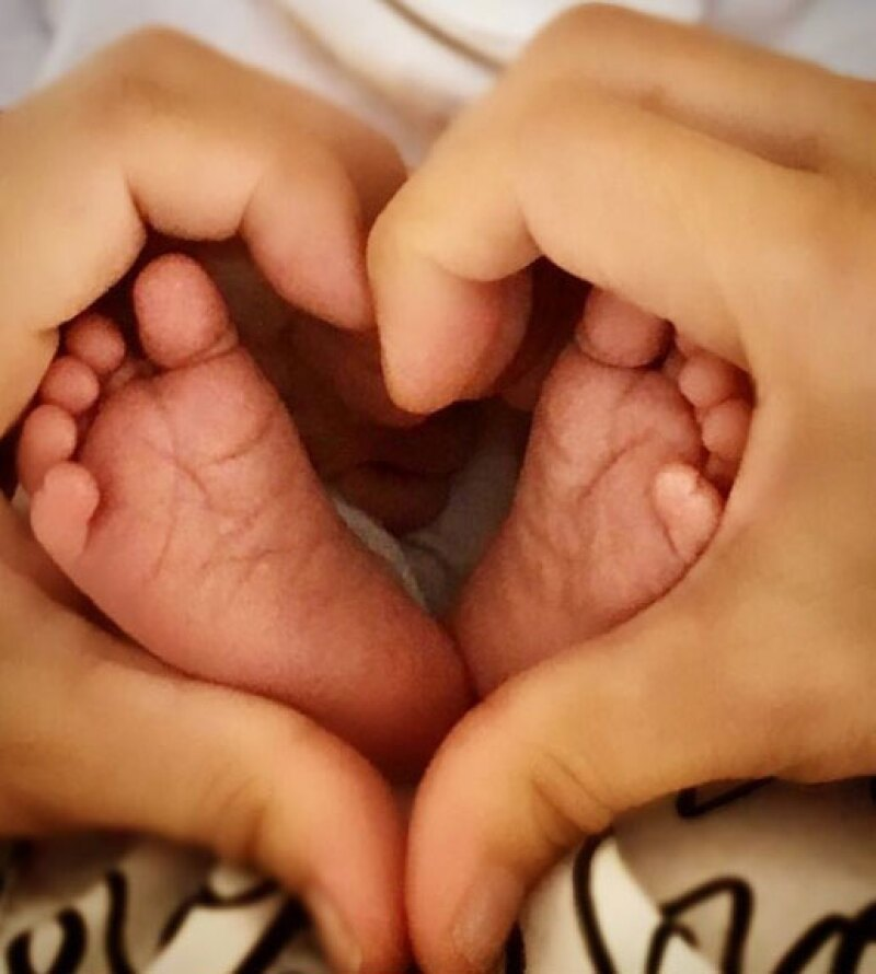 Esta había sido la primer foto que Paulina presumió de su segundo hijo.