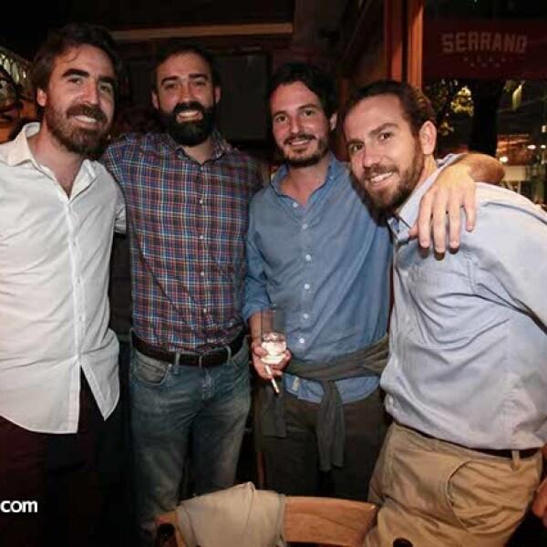 Antonio Núñez,Iván Palomera,Joaquín Canales y Pablo De la O