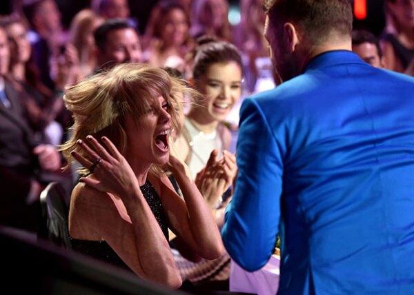 Al final todos quedaron sorprendidos con su reacción.