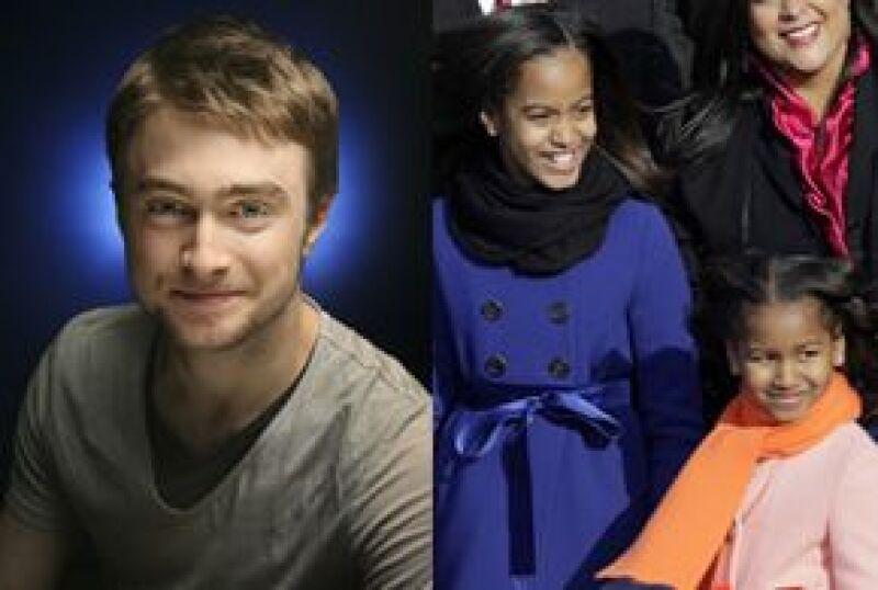 El actor aseguró que si Malia y Sasha desean hacer un tour privado por el set donde se filman las cintas de Harry Potter, él con gusto podría ser su guía personal.