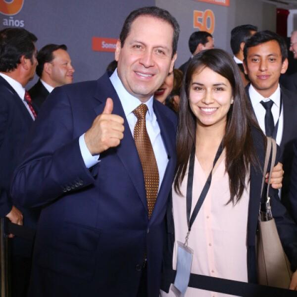 Eruviel Ávila y Ama Perla Guerrero.