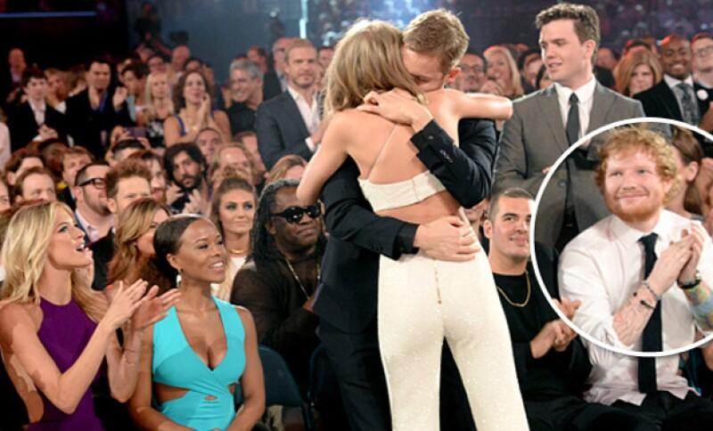 Algo parecido sucedió en los Billboard Music Awards cuando las cámaras captaron la mirada de Ed en el momento en el que Calvin abrazaba a Taylor.