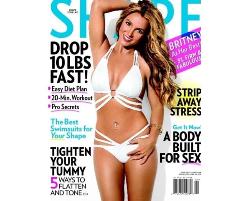 Si es verdad que Britney está trabajando por tener el cuerpo por el que todos se derretían, este no es el cuerpo real de la princesa del pop.