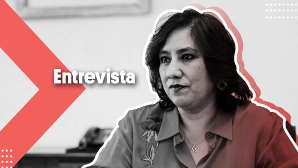 Irma Eréndira Sandoval en entrevista