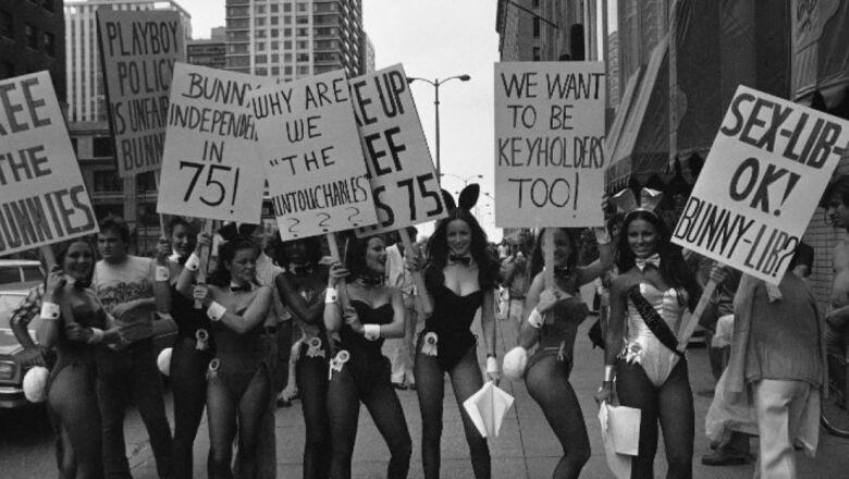 Protesta de conejitas