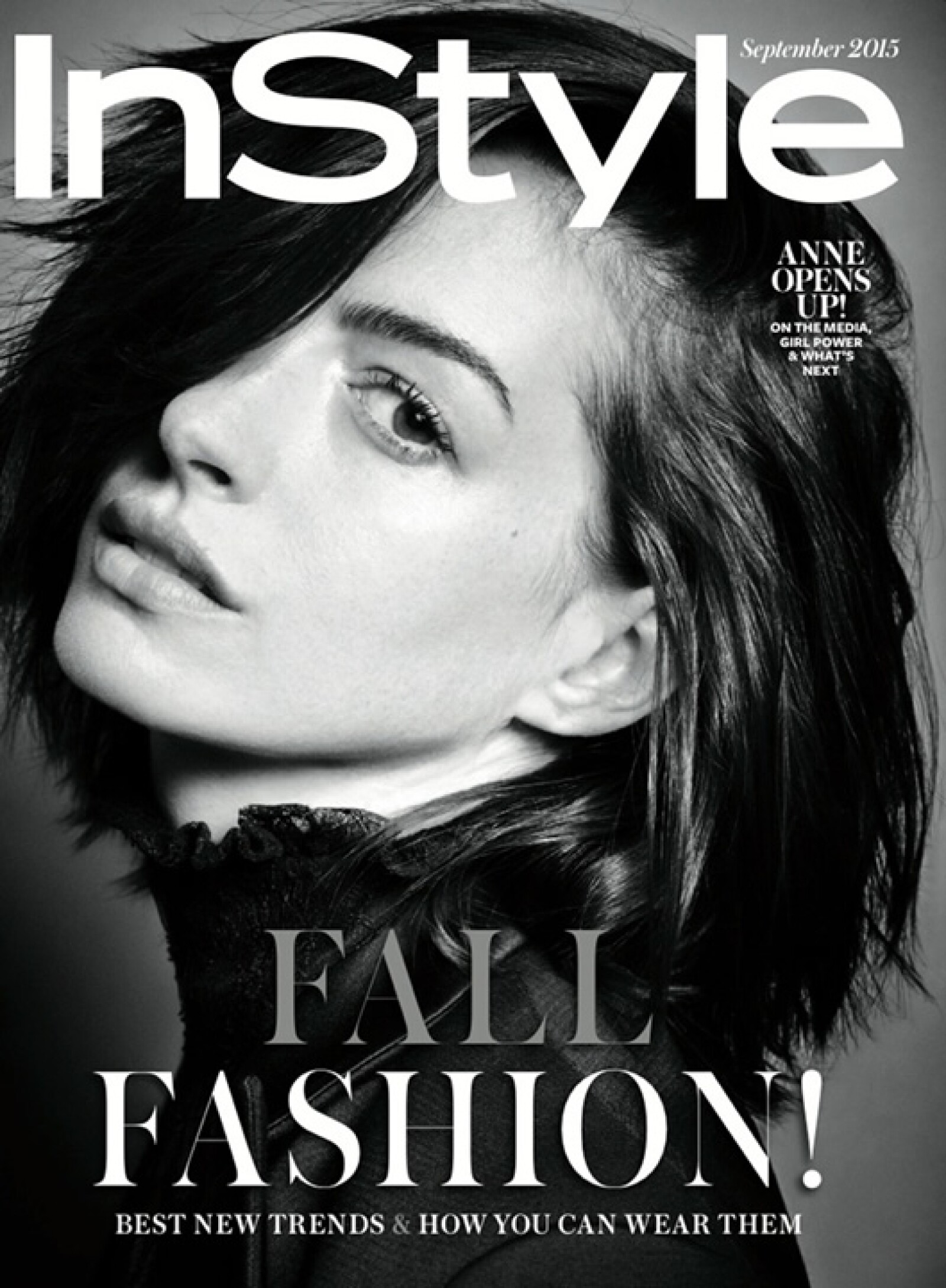 InStyle: Anne Hathaway usa vestidos de Nina Ricci, Prada en Valentino en el shooting completo.