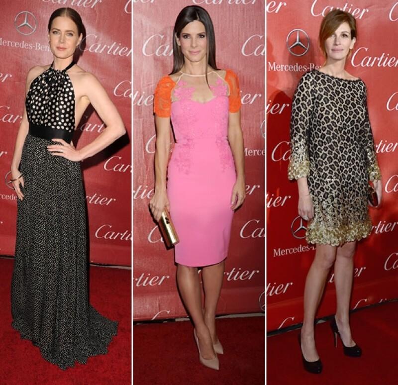 Sandra Bullock, Amy Adams y Julia Roberts fueron algunas de las famosas que usaron los mejores looks en el evento de cine. Mira qué usó cada una y decide quién es tu favorita.