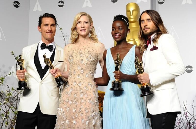 Matthew McConaughey, Cate Blanchett , Lupita Nyong´o, Jared Leto.