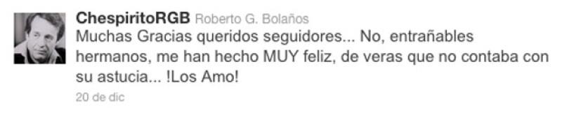El comendiante mexicano agradeció a todos sus fans su apoyo.