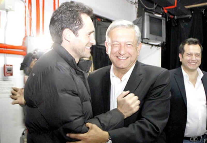 Demian Bichir y Andrés Manuel a principios de marzo.