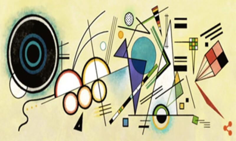 Google usó la obra Composición VIII para su doodle. (Foto: tomada de google.com )