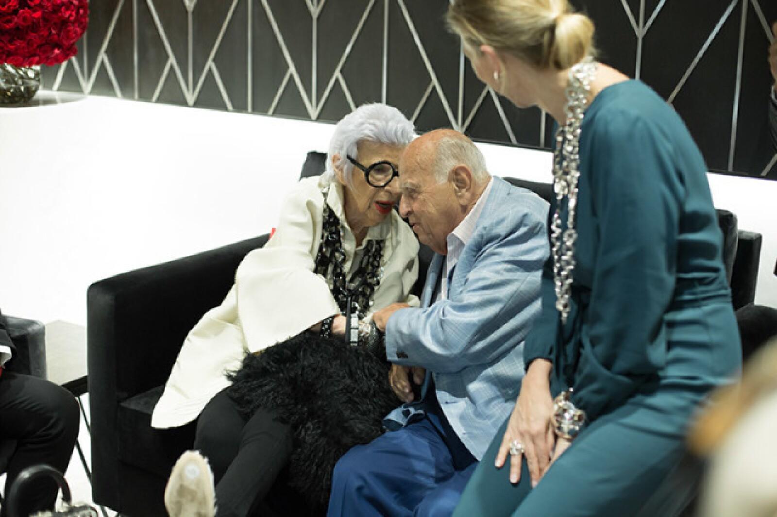 Iris Apfel, Mauricio Berger y Sylvie Ligonie
