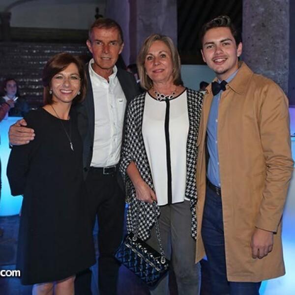 Marissa Méndez, Alonso Zarazera, Lourdes Ascencio y Ángel Guzmán