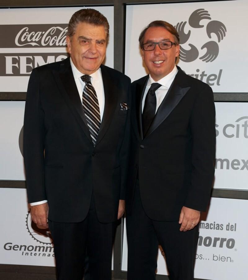 Aquí con Mario Kreutzberger, mejor conocido como Don Francisco.