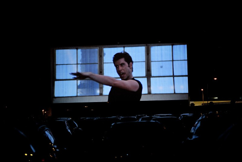 The film Grease opens the biggest autocinema in Spain
