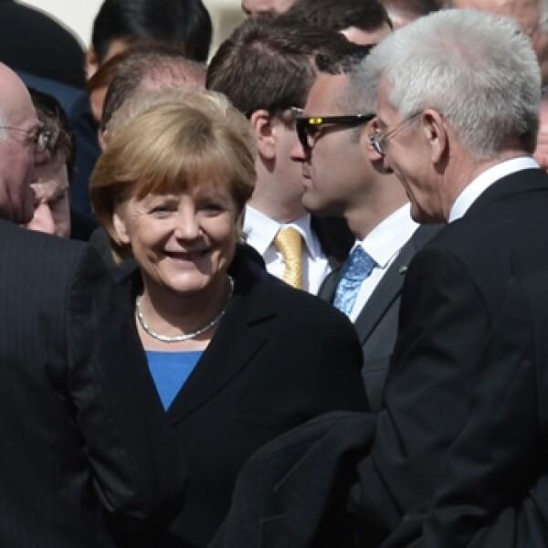 Angela Merkel, alemania, misa inauguración Francisco