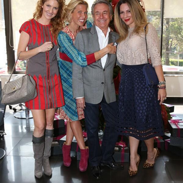 Marcela Cuevas,Beatriz Pasquel,Claude Joanin y Zarina Rivera