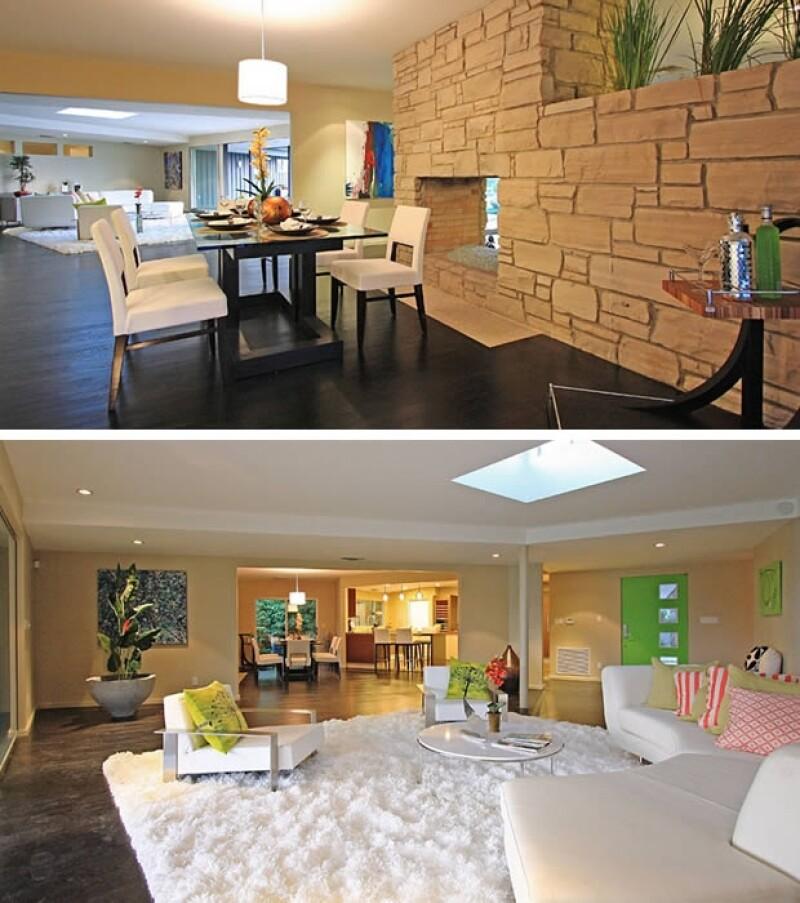La casa tiene varias salas en su interior.