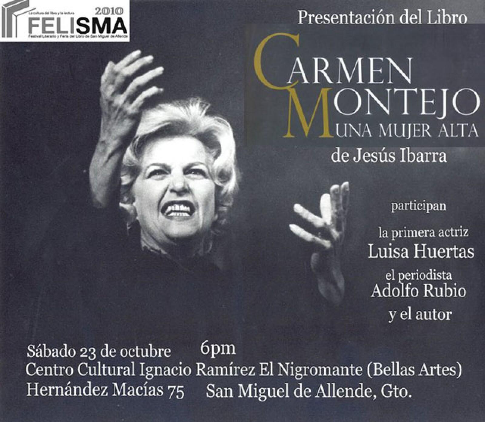 En 2011 fue homenajeada en la FICG con la presentación del texto Carmen Montejo, Una Mujer Alta.