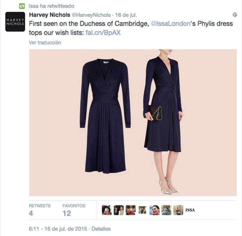Tanto la marca que lo confeccionó como la tienda que lo tendría a la venta, fue como se anunció que el vestido de compromiso de Kate Middleton estaba nuevamente en el mercado con el precio de 10 mil pesos.