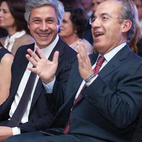 Claudio X. González y Felipe Calderón