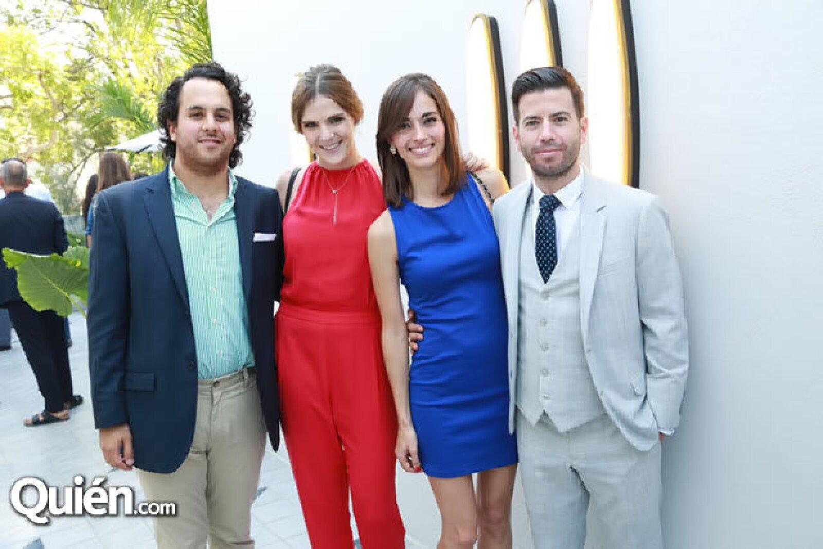 Rafa Guerrero,Marilú Hernández,Mmariana Peña y Daniel Gómez Álvarez