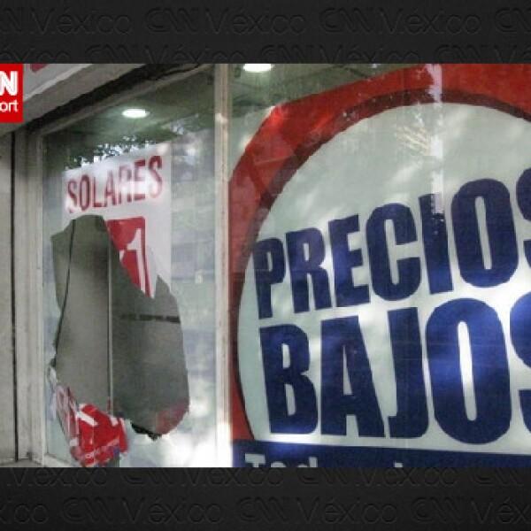 Tienda en Santiago sufrió daños por el sismo