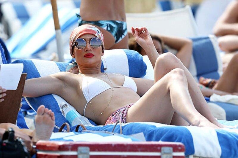 La cantante se tomó un descanso de sus conciertos en Las Vegas para disfrutar del sol.