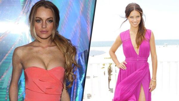 Lindsay Lohan y Adriana Lima