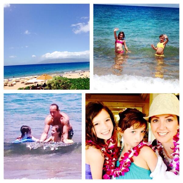 Andrea Legarreta y su familia disfrutan de unos días de descanso en Hawái.