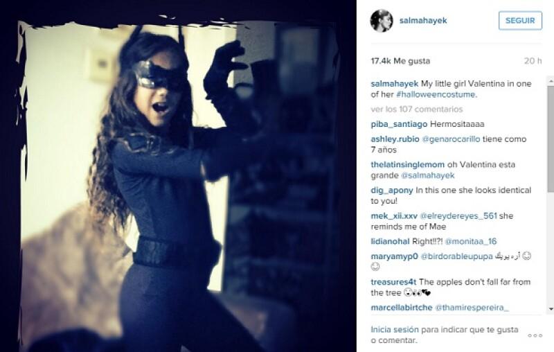 Muchos de los fans de la actriz dejaron ver cómo era el increíble parecido de Valentina con su madre.