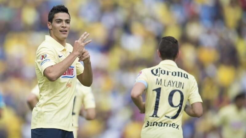 Raul Jimenez triplete América vs Puebla