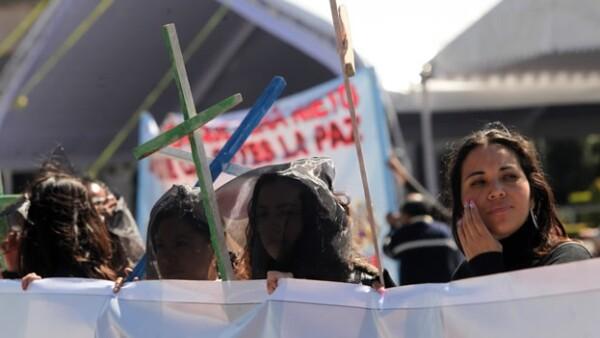 protestas contra feminicidios