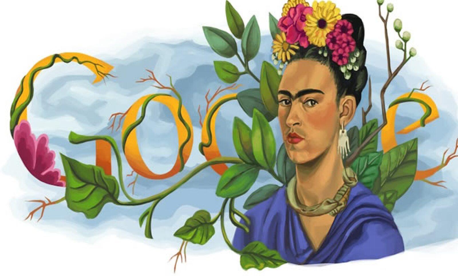 El 6 de julio de 2010 este 'doodle' celebró el cumpleaños número 103 de la pintora mexicana.
