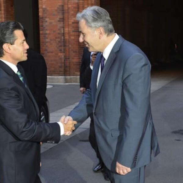El alcalde de Berlín Klaus Wiwerait recibe a Enrique Peña Nieto