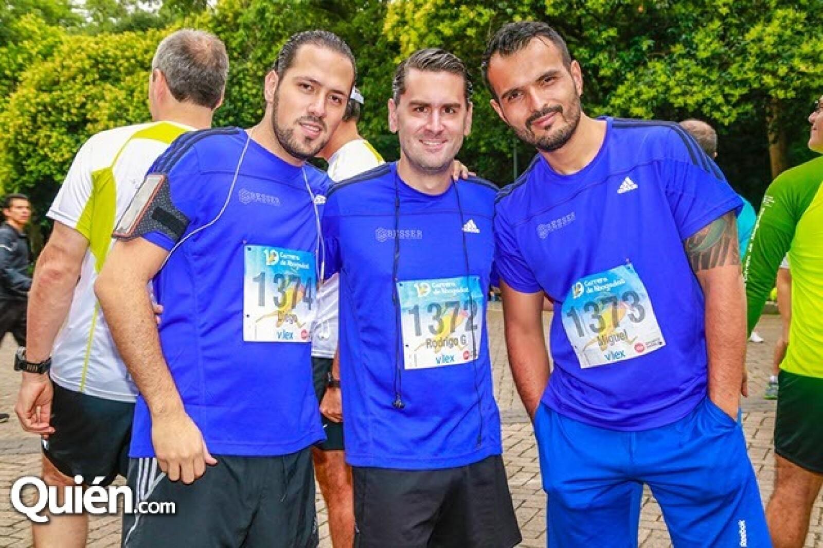Diego Salgado,Rodrigo García y Miguel Jiménez