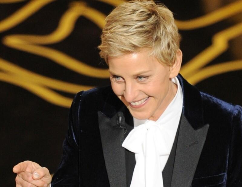 Ellen es una de las mejores comediantes en la televisión norteamericana y en esta entrega de los Oscar se lució con el humor que la caracteriza.